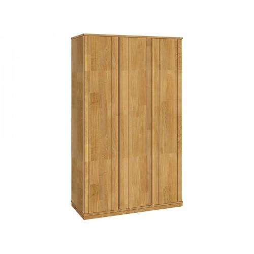 Шкаф трехстворчатый из массива дуба для одежды Паола