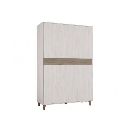 Шкаф трехстворчатый из массива дуба для одежды Софт
