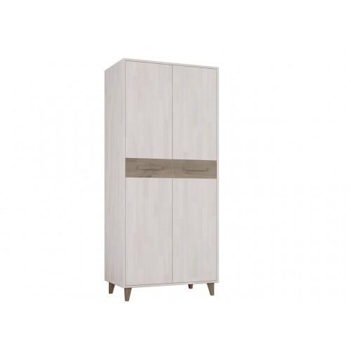 Шкаф двухстворчатый из массива дуба для одежды Софт