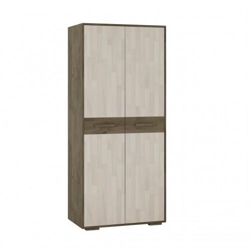 """Шкаф двухстворчатый из массива дуба для одежды Софт (""""низкие"""" опоры)"""