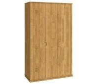Шкаф трехстворчатый из массива дуба для одежды Валентина