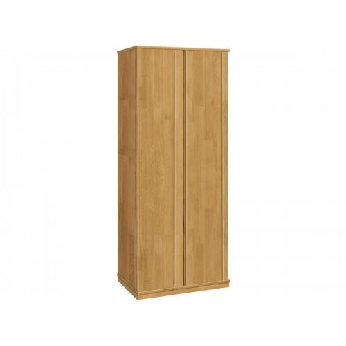 Шкаф двухстворчатый из массива дуба для одежды Жанет