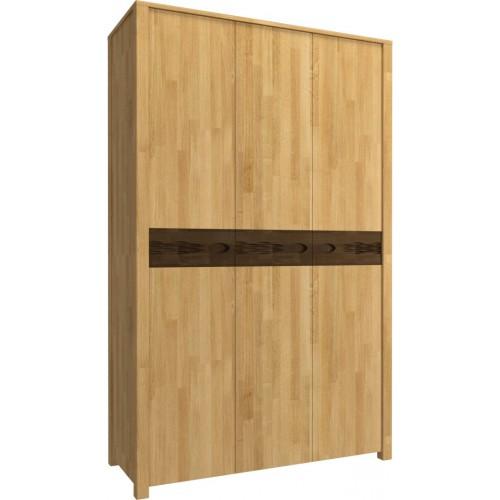 Шкаф трёхстворчатый для одежды из массива дуба Фьюжн