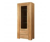 Шкаф из массива дуба с витриной Фьорд 1 (однодверный)