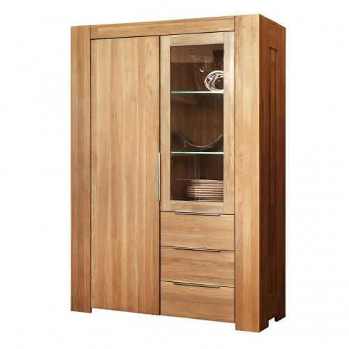 Шкаф из массива дуба с витриной Фьорд 2 (2-х дверный)
