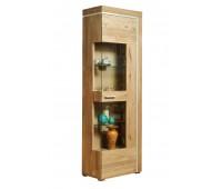 Шкаф из массива дуба с витриной Хэлден