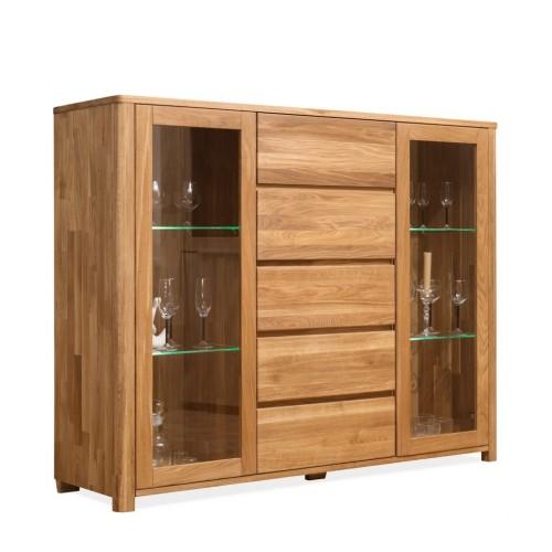 Шкаф комбинированный-бар Лозанна 4 из массива дуба