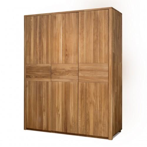 Шкаф из массива дуба Лозанна 3-х дверный