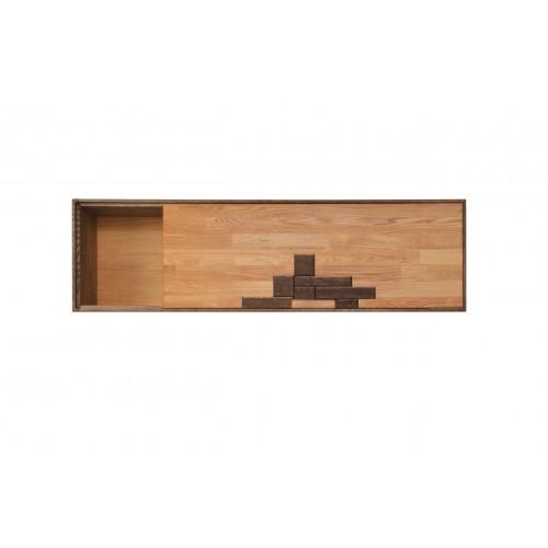 Шкаф навесной из массива дуба Сканди 4.1