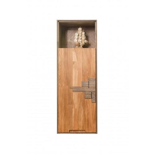 Шкаф навесной из массива дуба Сканди 1.1