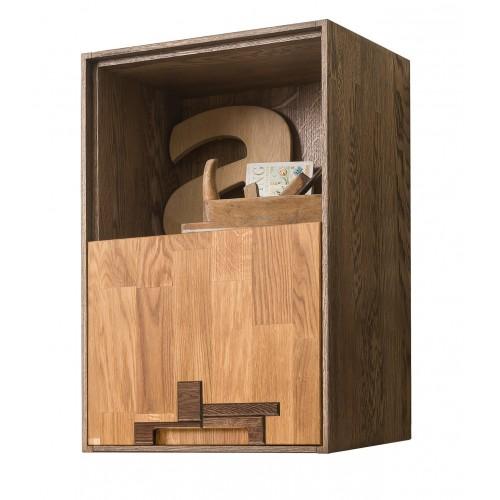 Шкаф навесной из массива дуба Сканди 2.1