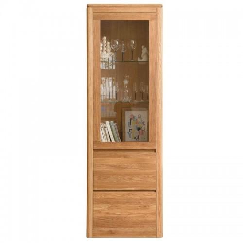 Шкаф с витриной Лозанна 1 Люкс из массива дуба