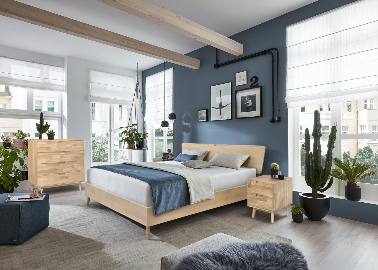 Кровать из массива дуба Сканди